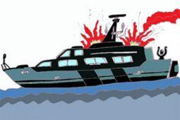 Mesin kapal Dishub Kepuluan Seribu meledak, sembilan orang luka