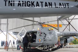 Indonesian Navy stations chopper in Malacca Strait