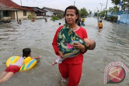 Ribuan rumah warga kebanjiran di Belawan, Medan