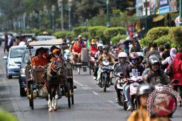 Yogyakarta petakan pangkalan sementara andong di Malioboro