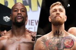 McGregor sesumbar kalahkan Mayweather dengan mudah