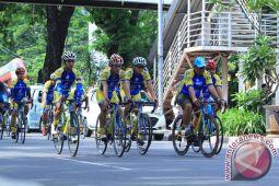 Tim sepeda Korem 044/Garuda Dempo dampingi tour Sabang-Jakarta