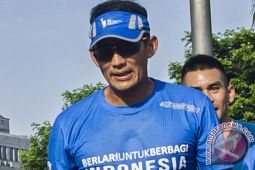 Sandiaga gowes Jumat Sehat di Jakarta Timur