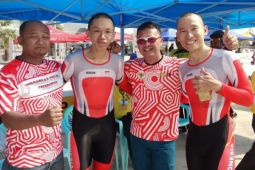 Wakil Indonesia sabet emas kejuaraan balap sepeda Asia