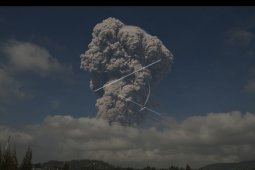 Debu Sinabung menyebar hingga Aceh