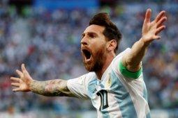 Messi lega lolos setelah kalahkan Nigeria