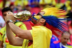 Deretan foto kemenangan Kolombia