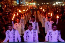 Masyarakat Lhokseumawe meriahkan pawai takbiran Idul Fitri