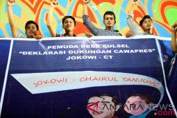 Deklarasi relawan Jokowi-CT Sulsel