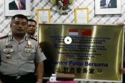 "Narasi Anti-Hoax - Plakat ""kantor polisi bersama"" Indonesia-China bikin geger"