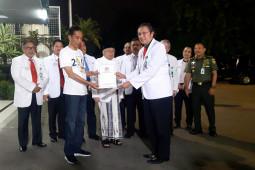 Jokowi-Ma'ruf tuntaskan pemeriksaan kesehatan