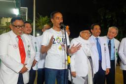 Jokowi-Ma'ruf: pemeriksaan kesehatan tidak melelahkan