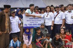 Bantuan Asdp untuk korban gempa Lombok