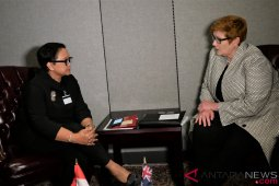 Menlu RI lakukan pertemuan bilateral dengan Menlu Australia