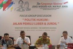 TKN Jokowi-Ma'ruf cari masukan aturan main capres-cawapres dalam pilpres 2019