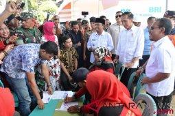 Presiden pastikan kemudahan pencairan dana bantuan gempa