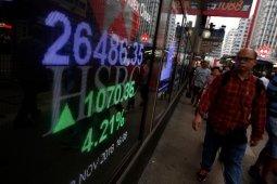 Bursa saham Hong Kong terangkat 0,81 persen