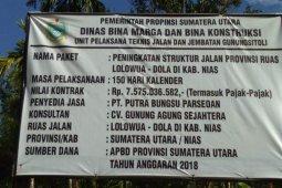 Proyek peningkatan jalan Lolowua menuju Dola diputus