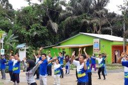 PLN - Puskesmas Tumbang Titi gelar olahraga bersama