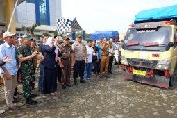 Forkopimda Muaro Jambi lepas truk pertama pengangkut logistik Pemilu