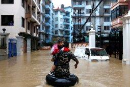 Korban tewas akibat banjir di Nepal bertambah jadi 47 orang