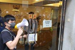 Buruh migran Indonesia aksi damai di KJRI Hong Kong tuntut usut tuduhan pada PRT