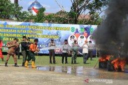 Puluhan personil Satgas Pencegahan Karhutla siap bertugas di Singkawang