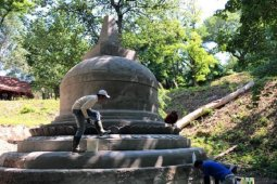 HUT RI, replika Stupa Borobudur diresmikan di Ukraina