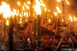 Pawai obor sambut peringatan HUT RI di Gorontalo