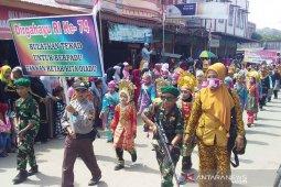 Ribuan pelajar ikuti pawai karnaval di Aceh Timur