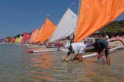 Lomba perahu layar di Sanur Village Festival