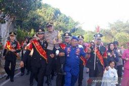 AKBP Ferdinand disambut ratusan personel Polres Bangka Selatan