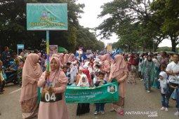 Anak-anak sekolah meriahkan pawai Tahun Baru Hijriah di  Banda Aceh