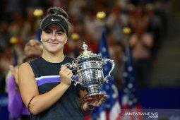 Catatan Andreescu, dari peringkat 208 hingga jadi juara US Open