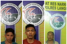 Tiga pengedar sabu-sabu ditangkap polisi Langkat