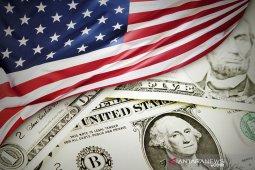Dolar jatuh, terseret data ekonomi AS yang suram