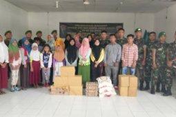 Yonif Tombak Sakti anjangsana ke Panti Asuhan Islamic Center
