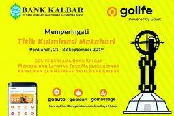 Peringati Titik Kulminasi Matahari Bank Kalbar berikan layanan pijat gratis
