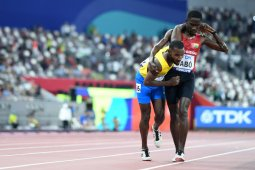 Aksi sportif atlet Braima Dabo membuat dunia terpana