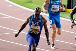 Christian Coleman juara dunia 100 meter