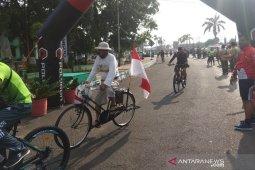 Sepeda santai jelang HUT ke-74 TNI