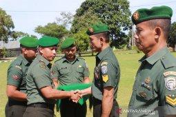 22 prajurit TNI di Nagan Raya Aceh naik pangkat