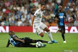 Sepuluh pemain Club Brugge imbangi Real Madrid di Bernabeu