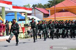 Parade dan defile mewarnai HUT TNI di Gorontalo