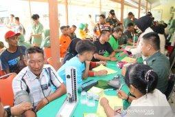 Ribuan pedonor di HUT ke-74 TNI