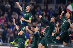 Kualifikasi Piala Eropa - Italia pastikan tempat di putaran final usai tundukkan Yunani 2-0