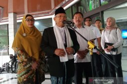 Ma'ruf Amin: Tidak terlalu lama lagi Pak Wiranto akan pulih