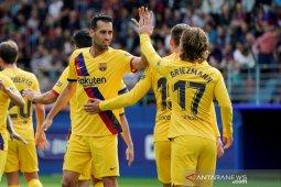 Hasil Liga Spanyol: Barcelona ambil alih puncak klasemen usai kalahkan Eibar