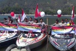 Pelantikan presiden, TNI-Polri di Magetan gelar Parade Merah Putih