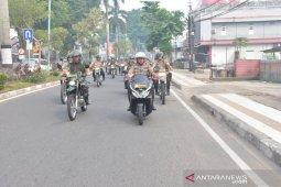 Kapolda Jambi dan Danrem patroli kota pakai sepeda motor